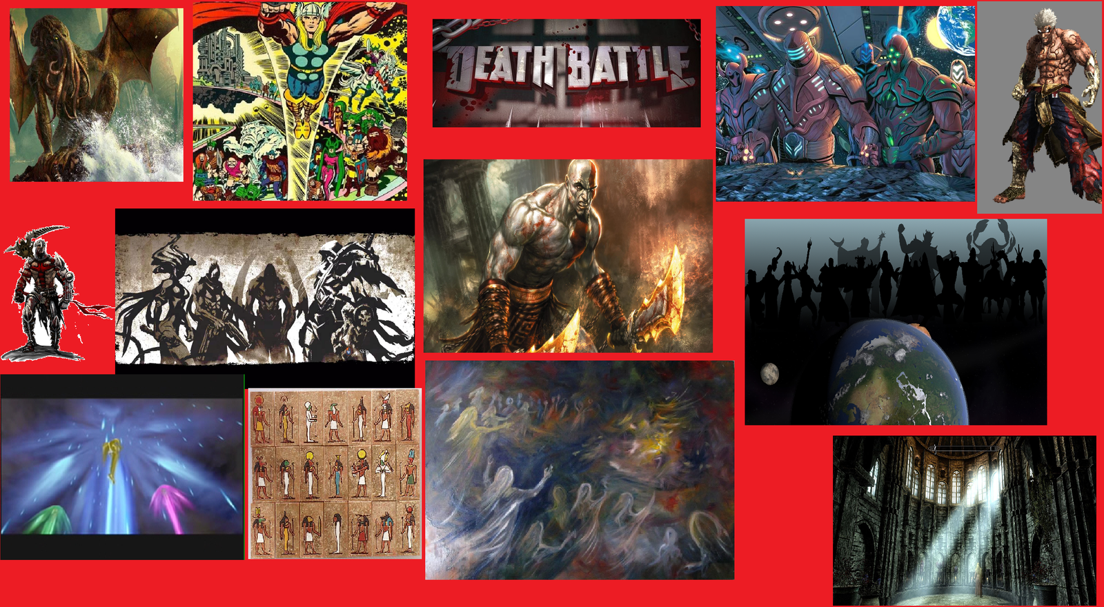 Super Death Battle Kratos vs the gods by CrazyGamerDragon64