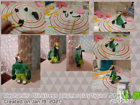 Mephanlina stinktress polymer clay figure (1st AT)