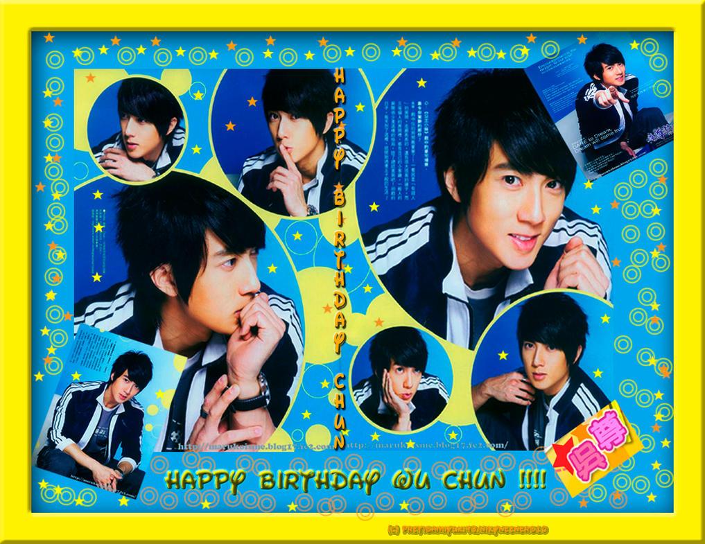 Wu Chun Birthday Wallpaper by pretisamiyuki43
