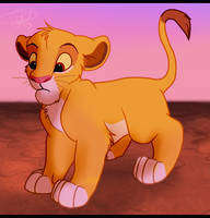 Simba looking at something by Katterson