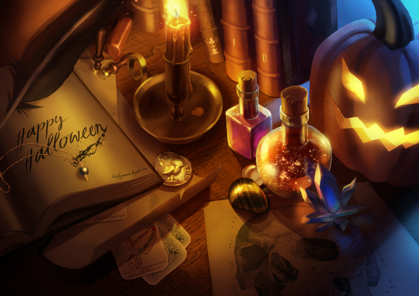 happy halloween by absinthe girl