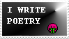 I Write Poetry Stamp by Prof9917