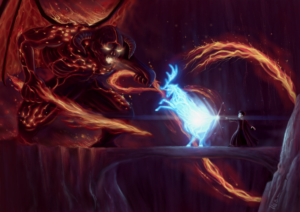 Balrog VS Patronus by brokeman29