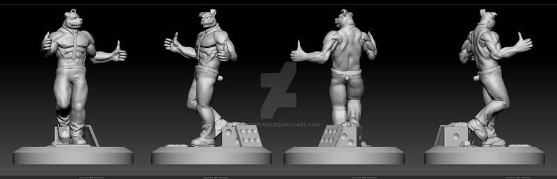 Character 3d Sculpt/Model and 3d Printed