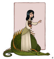 girl and dragon by NatashaFenik