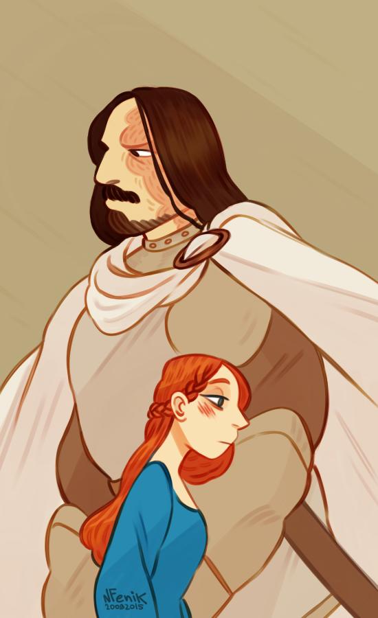Game of Thrones: Sandor and Sansa by NatashaFenik
