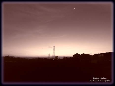 Bandung,Indonesia,after sunset