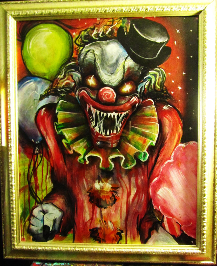 1219 best Clowns are Creepy images on Pinterest | Evil ... |Creepy Clown Painting