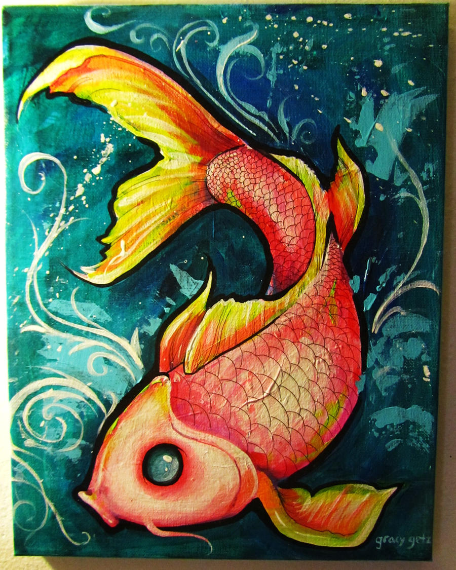 Koi fish by gracyg89 on deviantart for Koi artwork on canvas