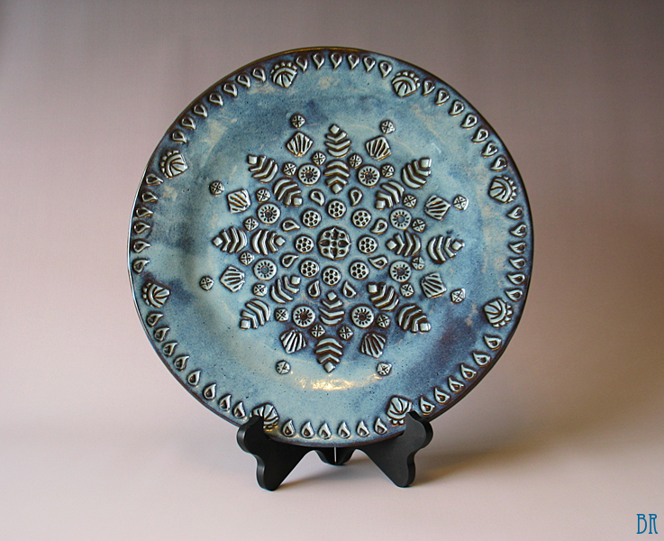 Mandala Platter in Dragonfly Blue by Justyse