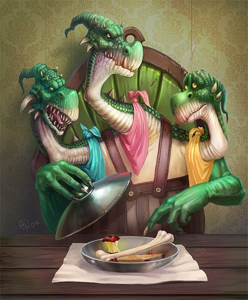 Dinner by saintbug