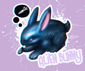 Alien bunny by saintbug