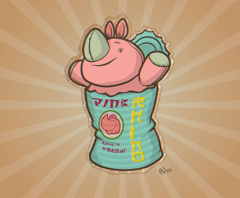 Pink rhino by saintbug