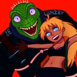 Nikaido and Lizardboi