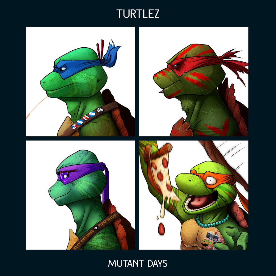 Turtlez - Mutant Days by FuShark