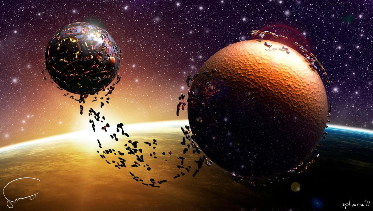 Digital art sphere promo03 by Santosky