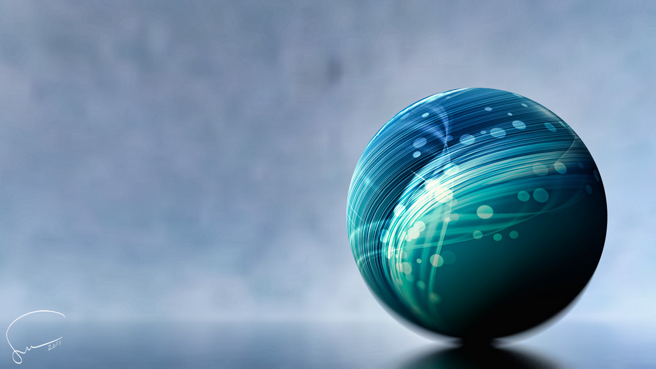 Digital Art Sphere2011 02 by Santosky