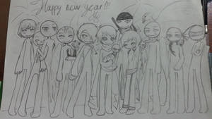 hapy new year 2015!!! (to be continued) by Mole4444