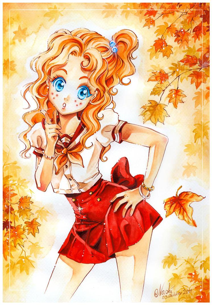 Nadja in autumn by Naschi