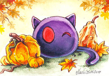Bright eyes and the Pumpkins by Naschi