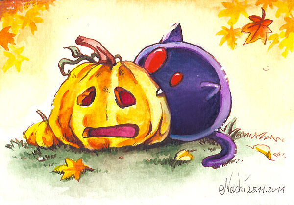Bright Eyes vs. The Pumpkin by Naschi