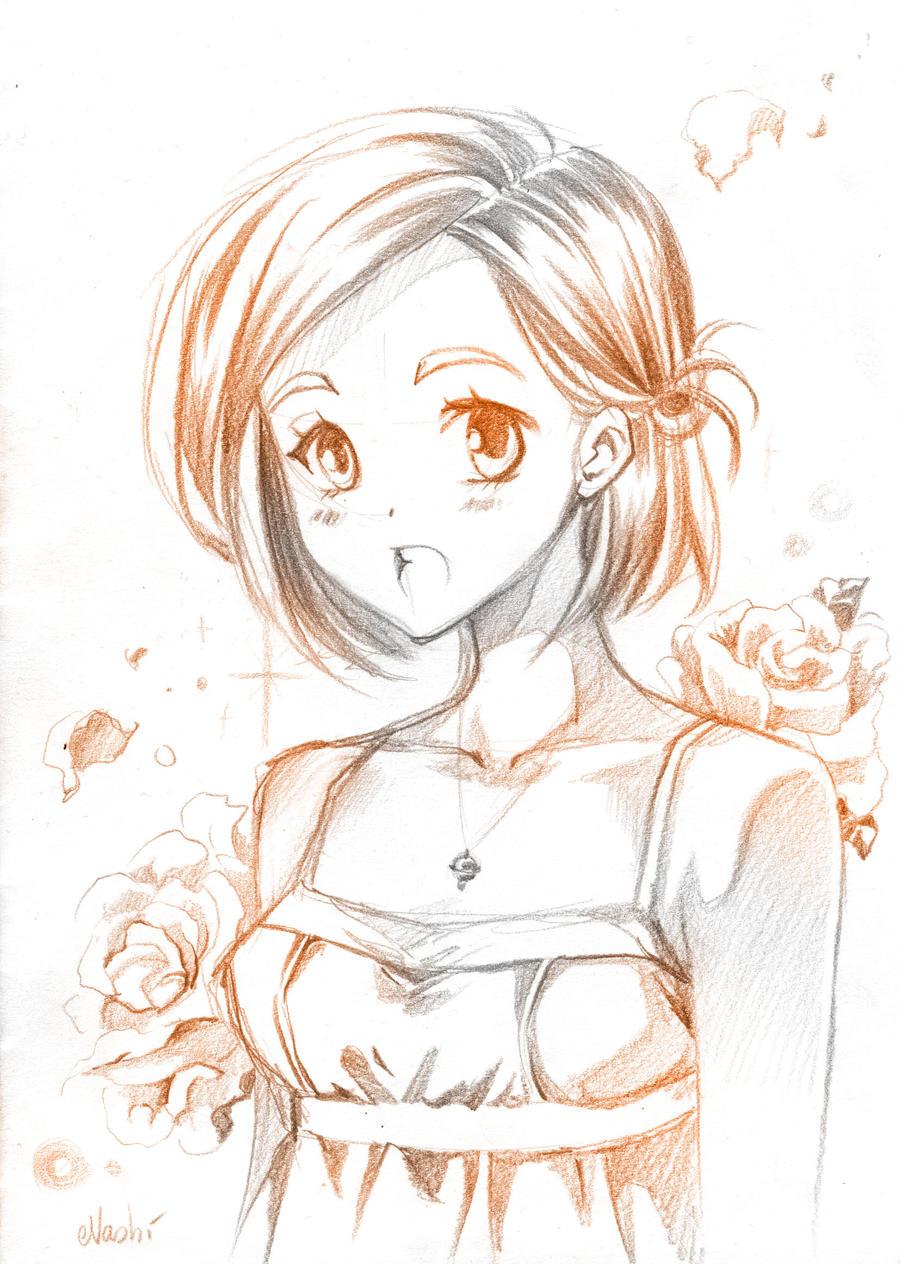 singing girl by Naschi