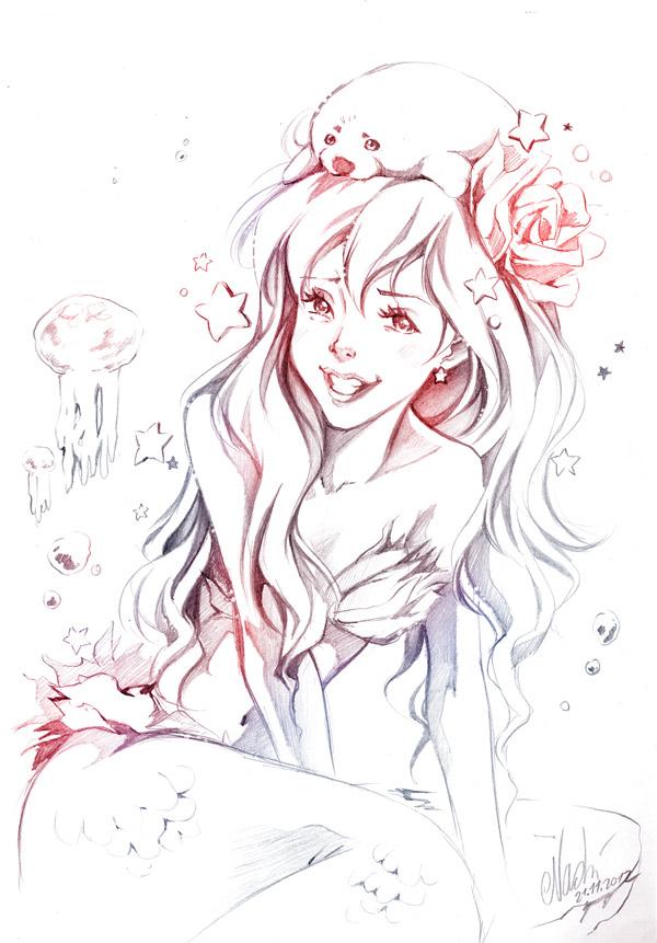 mermaid by Naschi