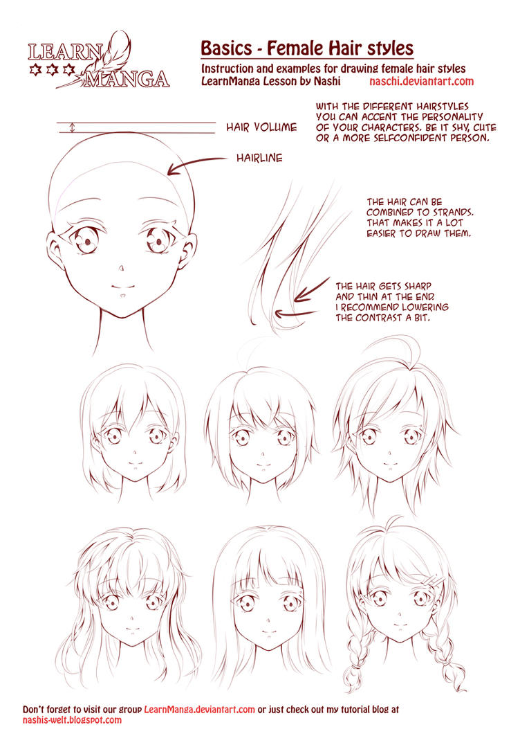 Learn Manga Female Hair Styles By Naschi On Deviantart