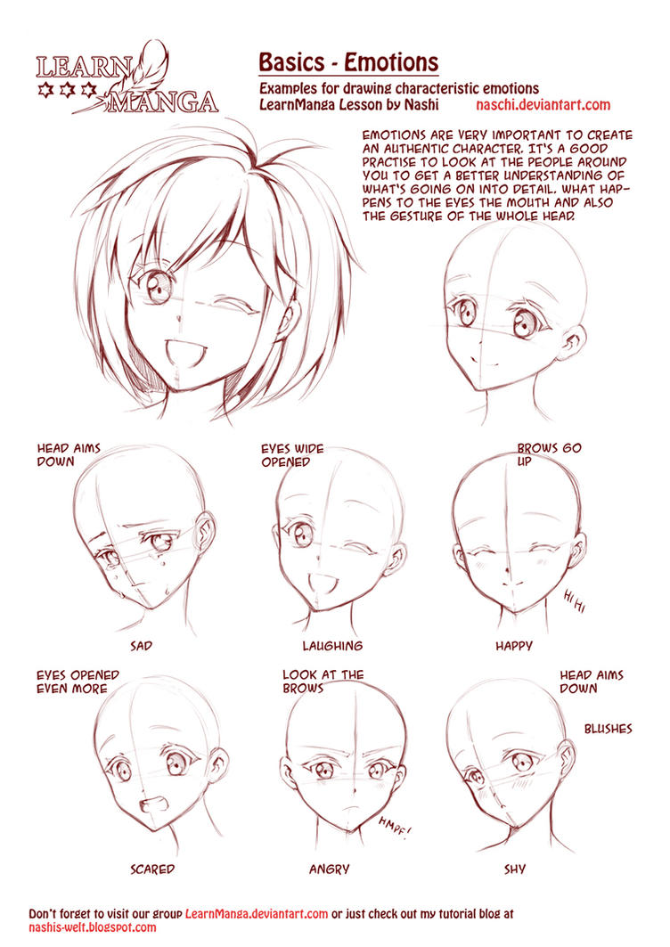 Learn Manga: Emotions by Naschi