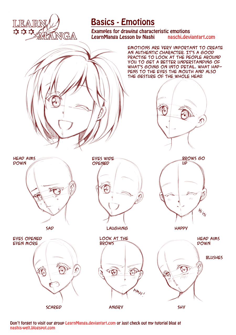 Learn Manga: Emotions by Naschi on DeviantArt