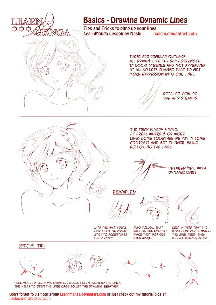 Learn Manga Dynamic Lines By Naschi On Deviantart