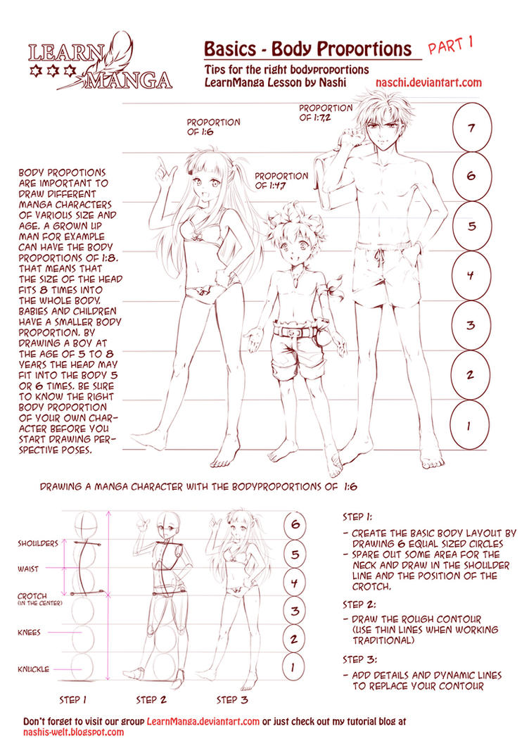 learn manga body proportions by naschi on deviantart