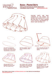 Learn Manga Basics: Pleated Skirts