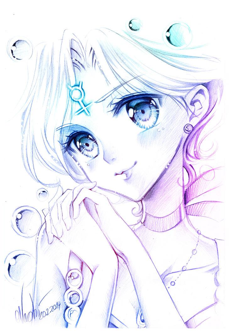 Sailor Mercurys smile by Naschi