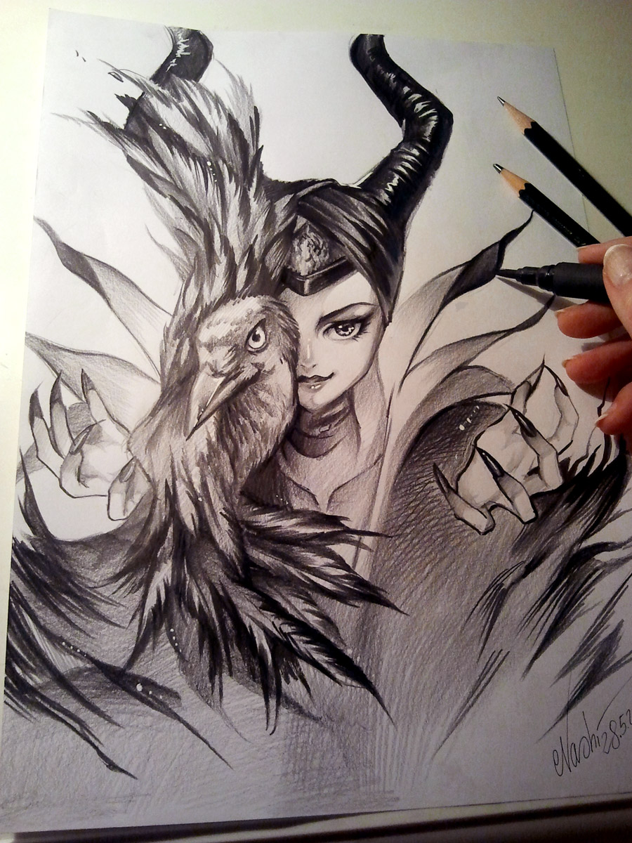 Maleficent by Naschi