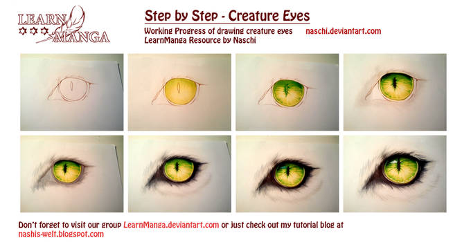 Creature Eye Step by Step