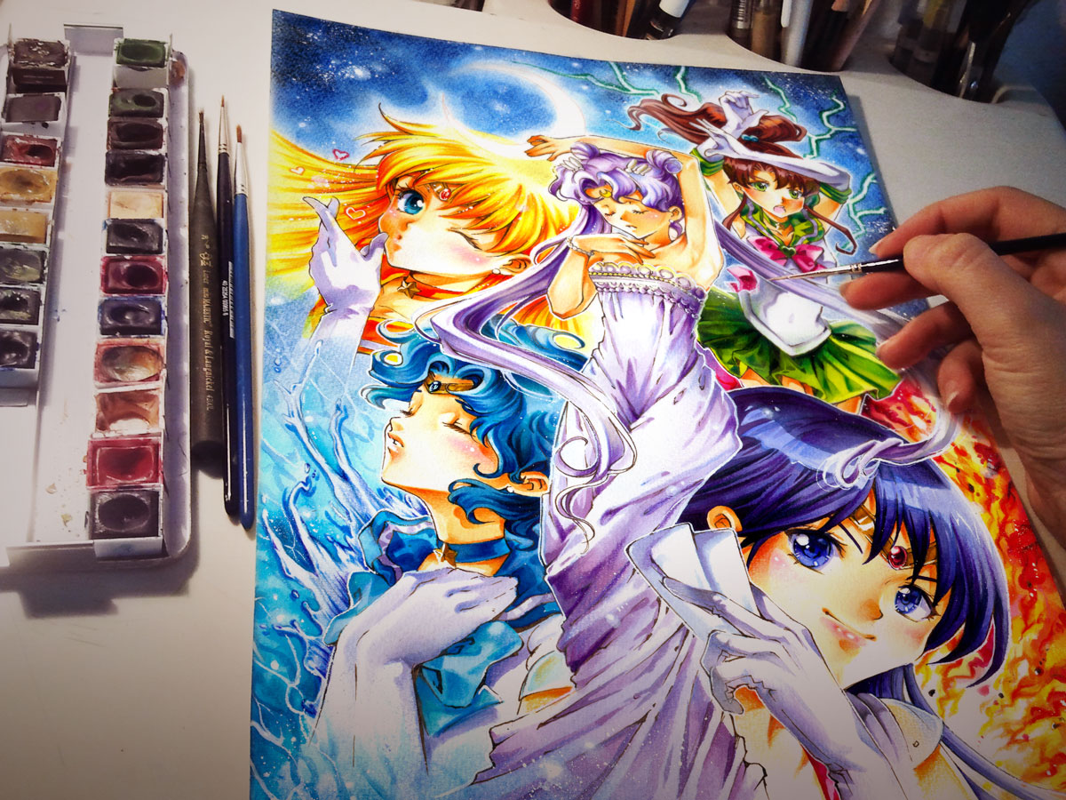Happy Birthday Sailor Moon :D by Naschi