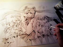 Sailor Moon Crystal Power by Naschi