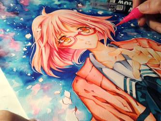 kyoukai no kanata Colored by Naschi