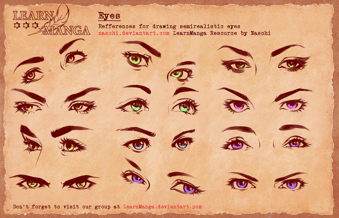 Learn manga basics semi eyes 4 refference by naschi on deviantart