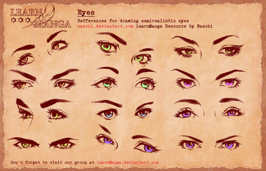 Learn Manga Basics Semi Eyes 4 Refference