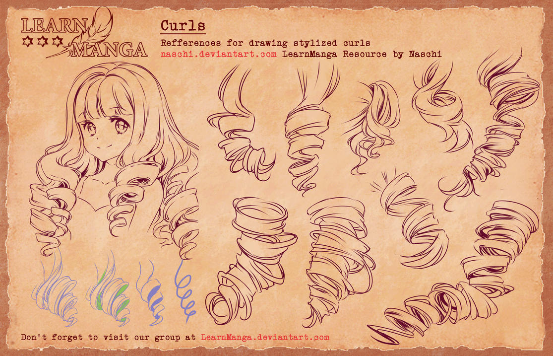 Learn Manga Basics Curls 4 Refference By Naschi On Deviantart