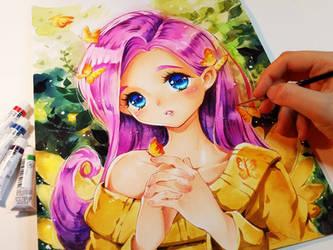 My little Fluttershy by Naschi