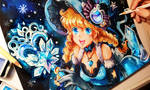 Snowflake Winter Witch