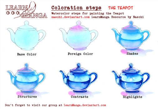 LearnManga Watercolorsteps Teapot