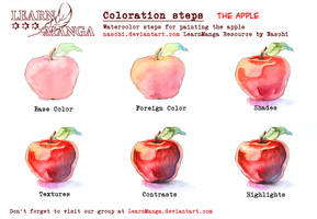 LearnManga Watercolorsteps Apple