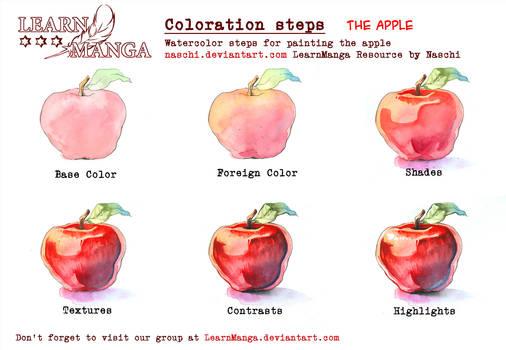LearnManga Watercolorsteps Apple