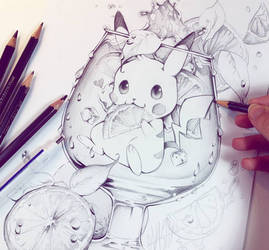 Pikachu sketch by Naschi