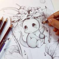 Charmander sketch by Naschi