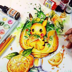 Pikachu fresco de limão por Naschi